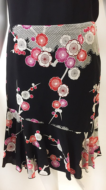 Trina Turk Floral Skirt Close Up Front View