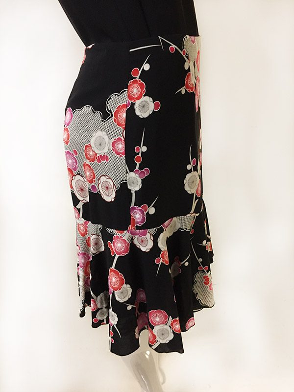 Trina Turk Floral Skirt Side View