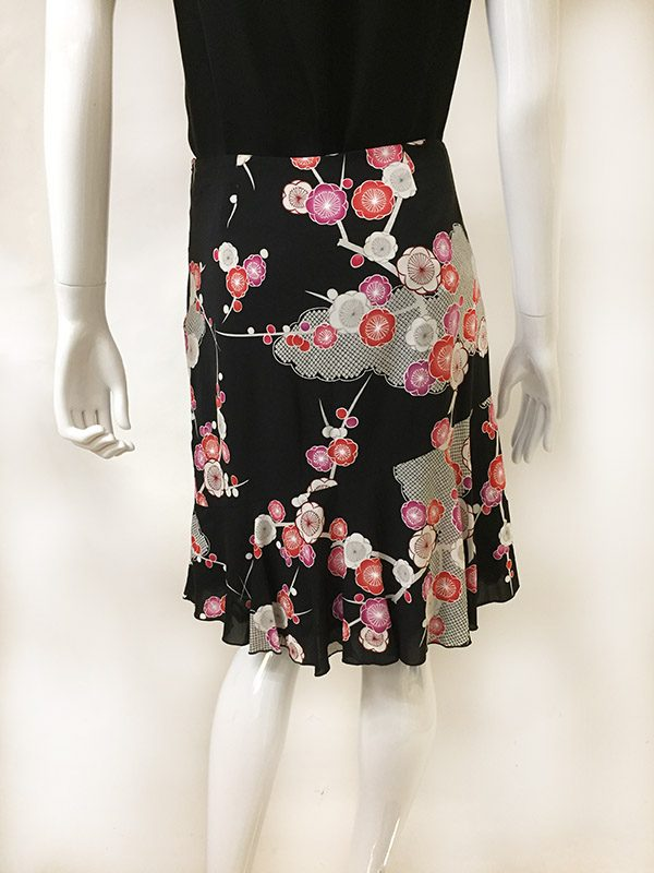 Trina Turk Floral Skirt Back View 2