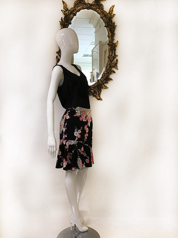 Trina Turk Floral Skirt Preview View