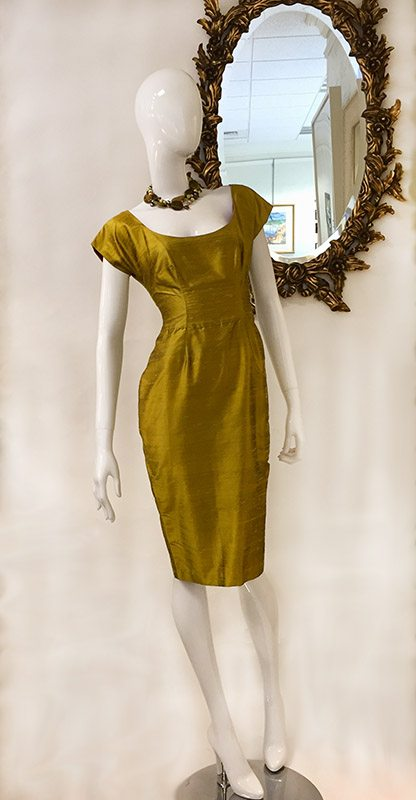 Pamela Barish Chartreuse Dress Preview View