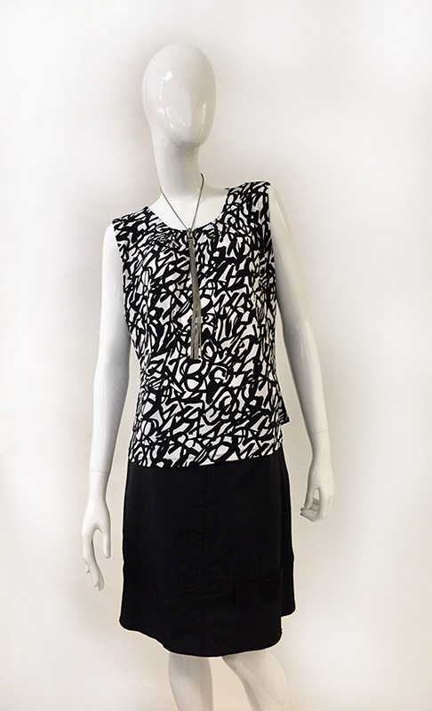 Calvin Klein Squiggle Print Top Front View