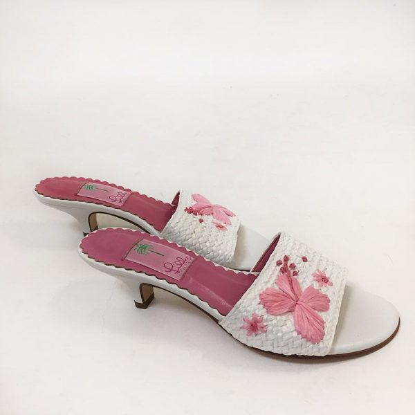 Lilly Pulitzer Woven Slides Side View 2