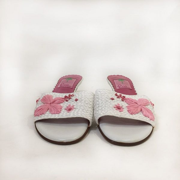 Lilly Pulitzer Woven Slides Front View