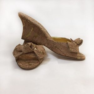 Manolo Blahnik Cork Wedge Heel Slides Preview View
