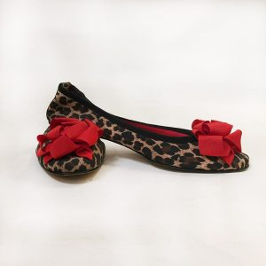 Beverly Feldman Leopard Print Ballet Flats Preview View
