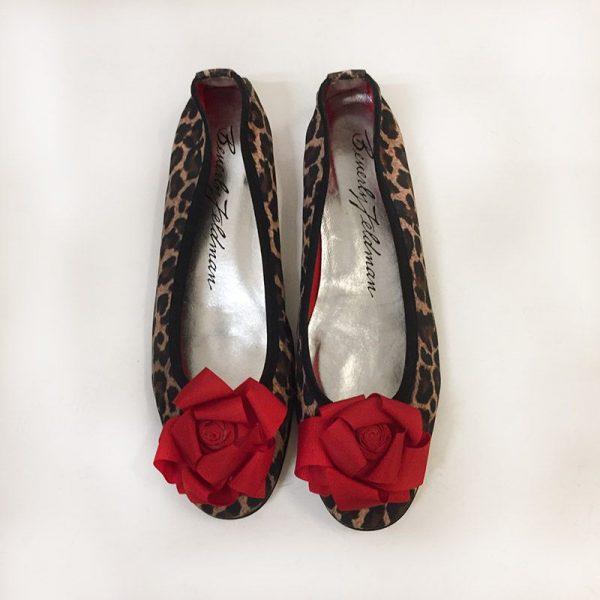 Beverly Feldman Leopard Print Ballet Flats Top View