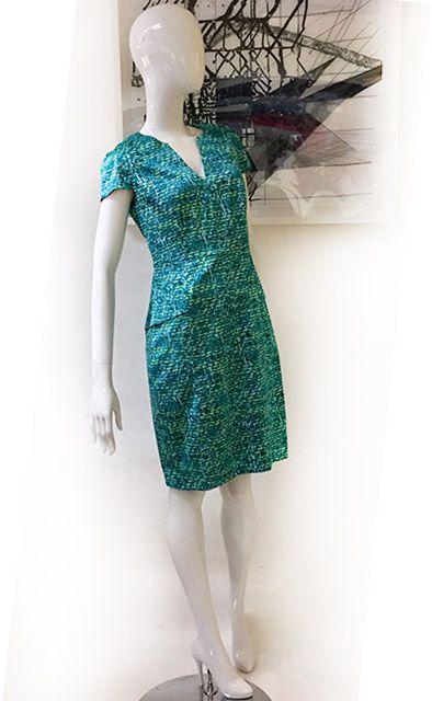 "Tahari Peplum Back ""Aruba"" Dress Preview View"