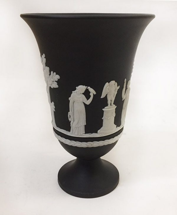 Wedgewood Black Jasperware Vase View 3