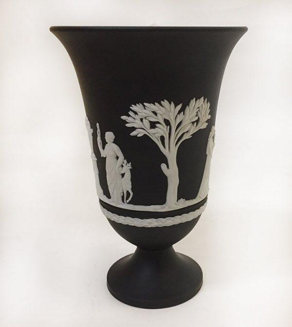 Wedgewood Black Jasperware Vase View 2