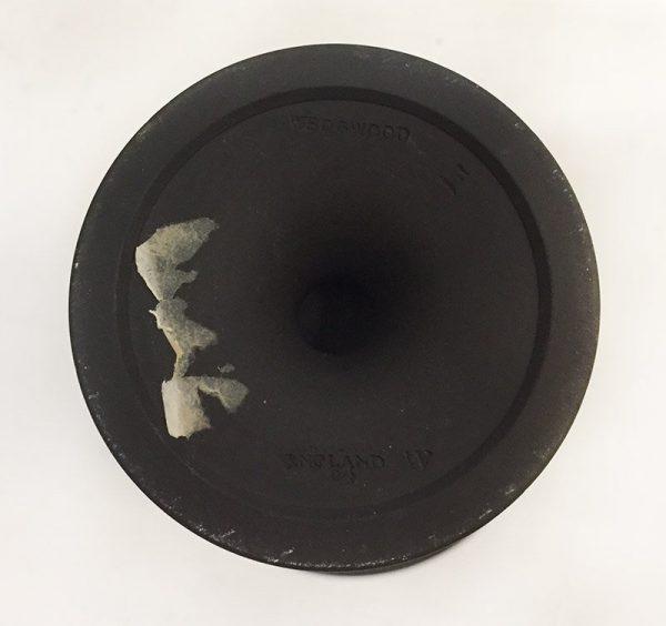 Wedgewood Black Jasperware Vase Bottom View