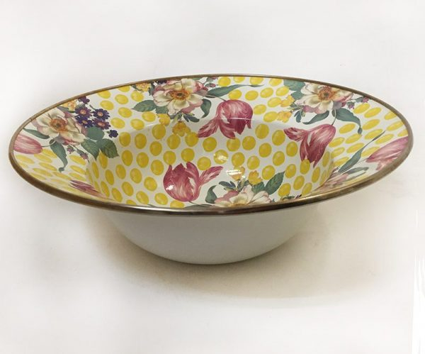 MacKenzie-Childs Buttercup Serving Bowl Top/Side View