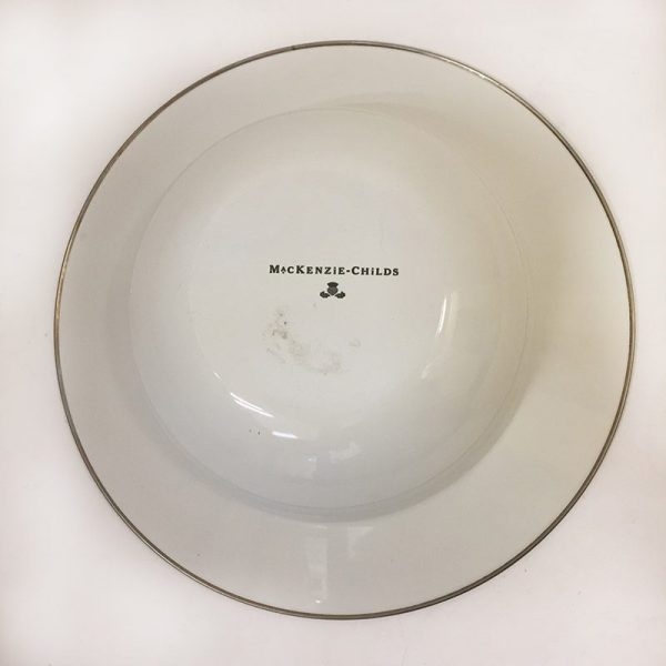 MacKenzie-Childs Buttercup Serving Bowl Bottom View