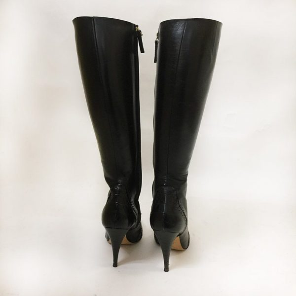 Escada Black Boots Back View