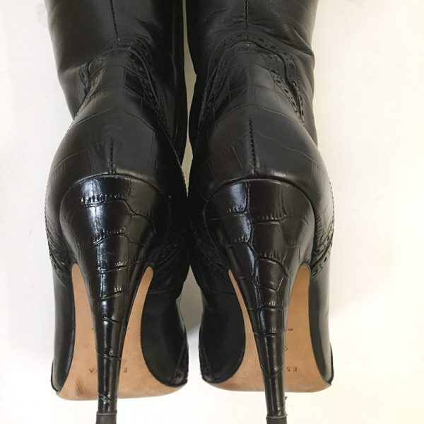 Escada Black Boots Back View 2
