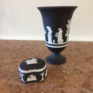 Wedgewood Black Jasperware Trinket Box Preview View