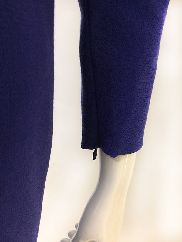 Carolina Herrera Mock Wrap Dress Close Up Sleeve Zip View
