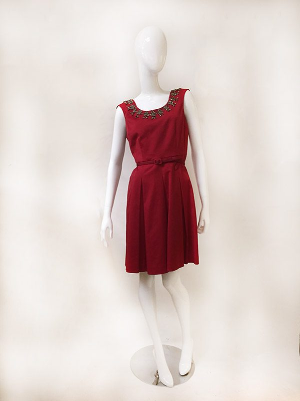 Talbots Belted A-line Dress Front View