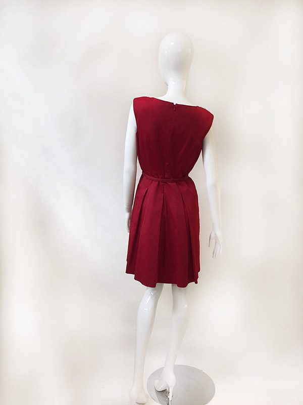 Talbots Belted A-line Dress Back View