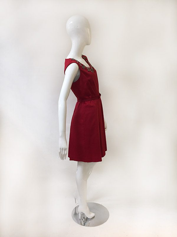 Talbots Belted A-line Dress Side View