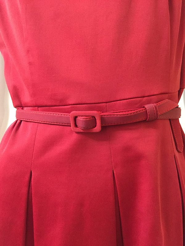 Talbots Belted A-line Dress Belt Close Up View
