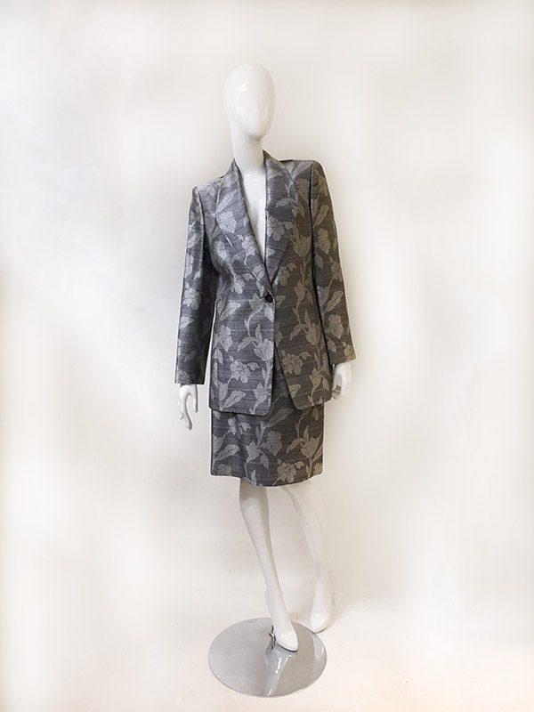 Dana Buchman Floral Skirt Suit Front View