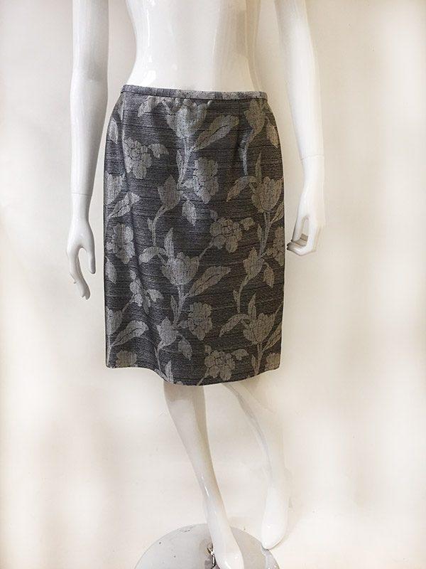 Dana Buchman Floral Skirt Suit Skirt Front View