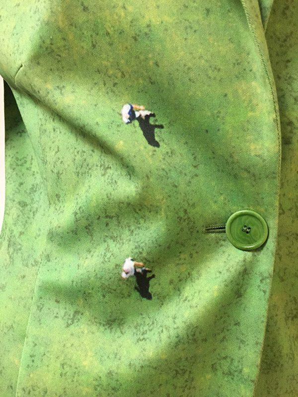 Akris Punto Soccer Field Jacket Button Close Up View
