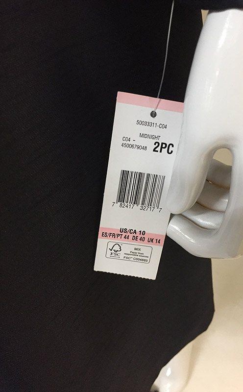 Albert Nipon Dress Suit Tag View