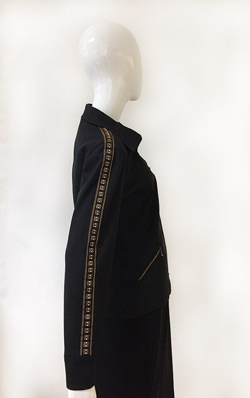 Juliana Collezione Zip Front Jacket Side View