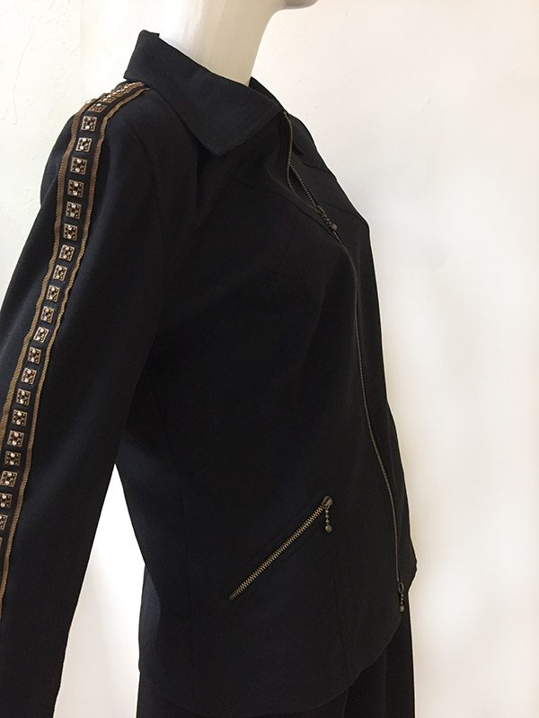 Juliana Collezione Zip Front Jacket Side View 2