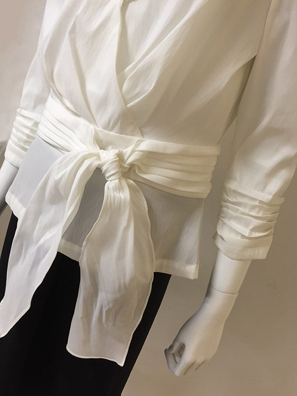 Hartly Back Zip Blouse Waist Tie View