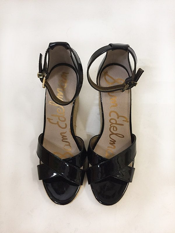 Sam Edelman Patent Leather Wedge Sandal Top View