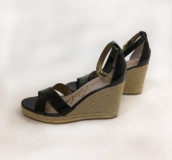 Sam Edelman Patent Leather Wedge Sandal Side View 2