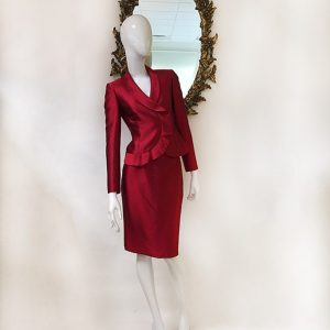 Tahari Ruffle Trim Skirt Suit Preview View