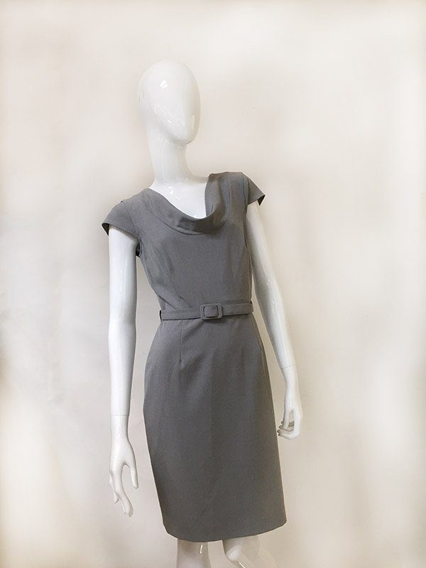 Calvin Klein Belted Dress Front View