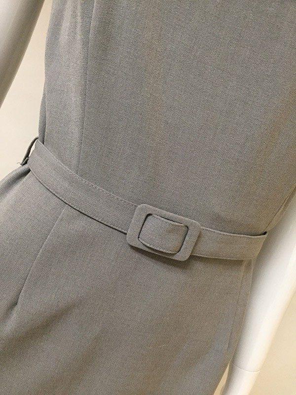 Calvin Klein Belted Dress Belted Waist Close Up View