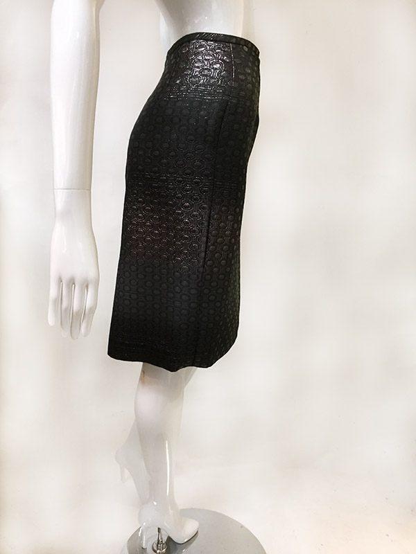 Teri Jon Ombre Metallic Skirt Suit Skirt Side View