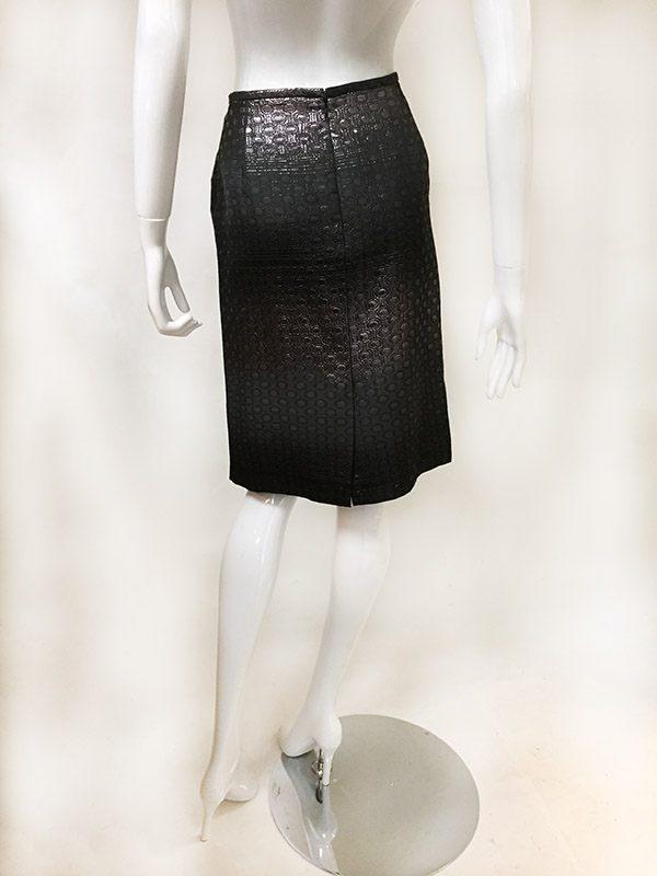 Teri Jon Ombre Metallic Skirt Suit Skirt Back View