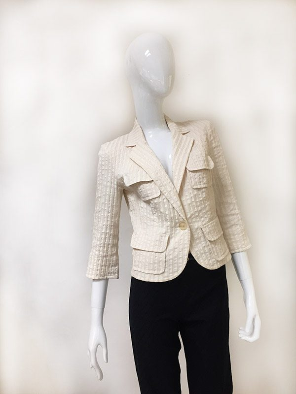 Lida Baday Notched Collar Jacket Front View