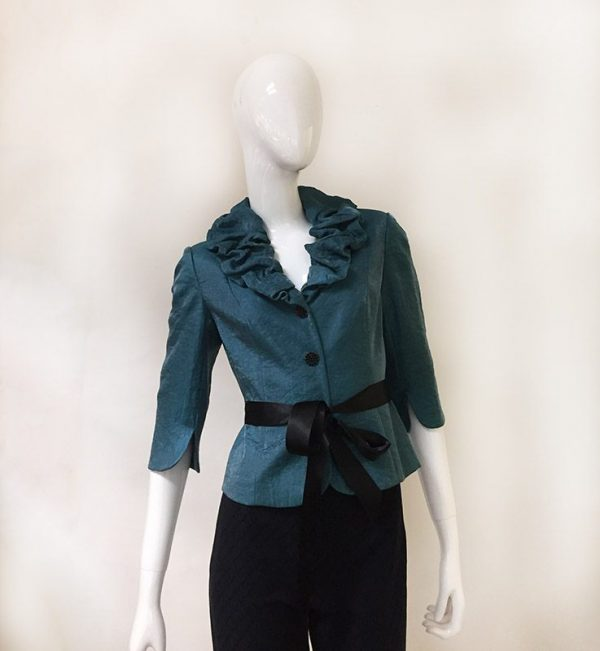Adrianna Papell 3/4 Sleeve Evening Jacket Front View