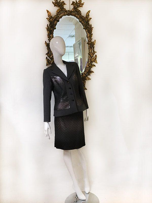 Teri Jon Ombre Metallic Skirt Suit Preview View