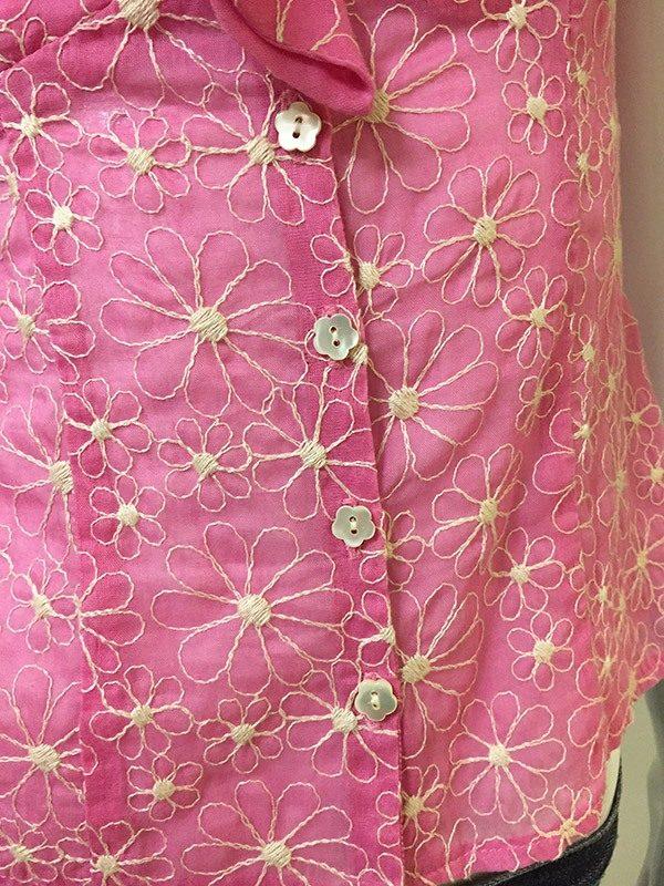 Nanette Lepore Floral Top Front Close Up View
