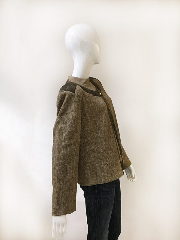 St. John Sweater and Jacket Set Side View