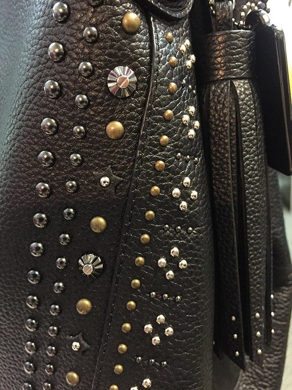 Coach Studded Purse Stud and Tassel View