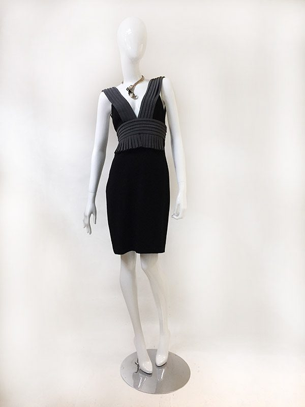 Black Halo Sleeveless Dress Front View