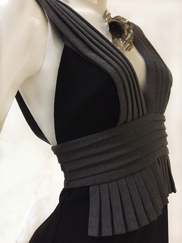 Black Halo Sleeveless Dress Close Up Side View 2