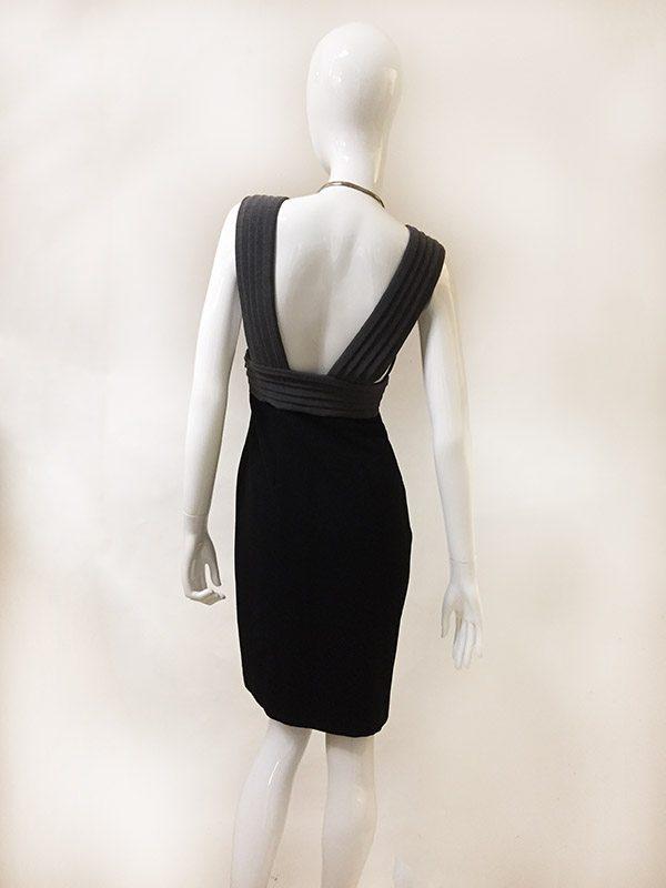 Black Halo Sleeveless Dress Back View