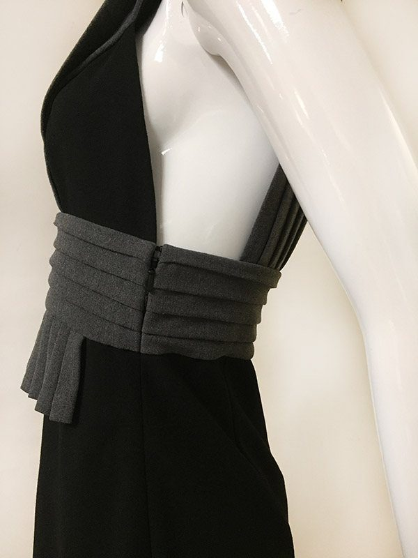 Black Halo Sleeveless Dress Close Up Side View