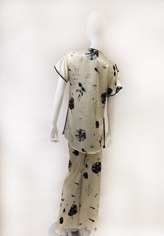 Natori Asian Inspired Pajama Set Back View